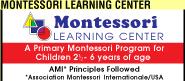 Montessori Learning Center Ad