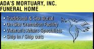 ADA's Mortuary Inc. Ad