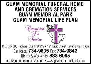 Guam Memorial Funeral Ad