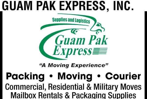 Guam Pak Express White Ad