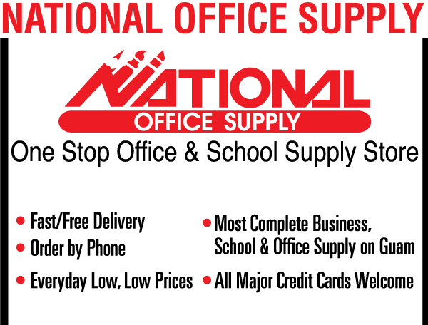 National Office Supply White Ad