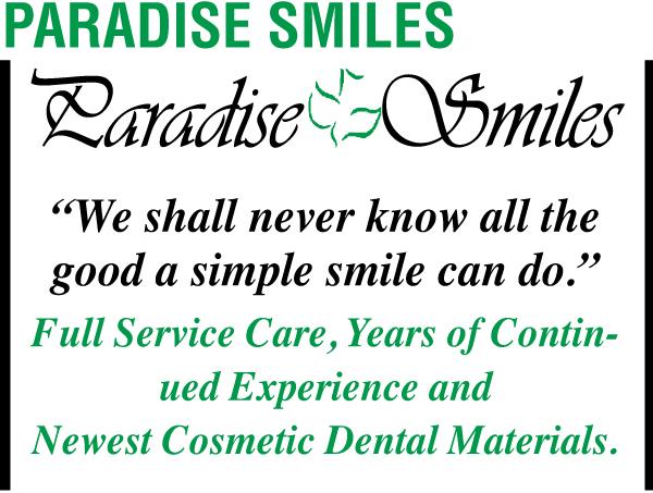 Paradise Smiles White Ad