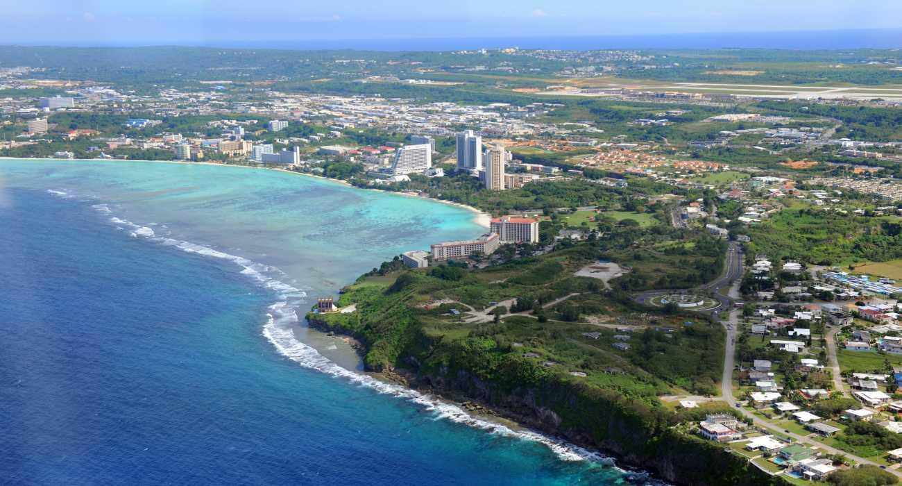 Guam bay shore